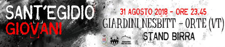 Sant'Egidio Giovani 2018